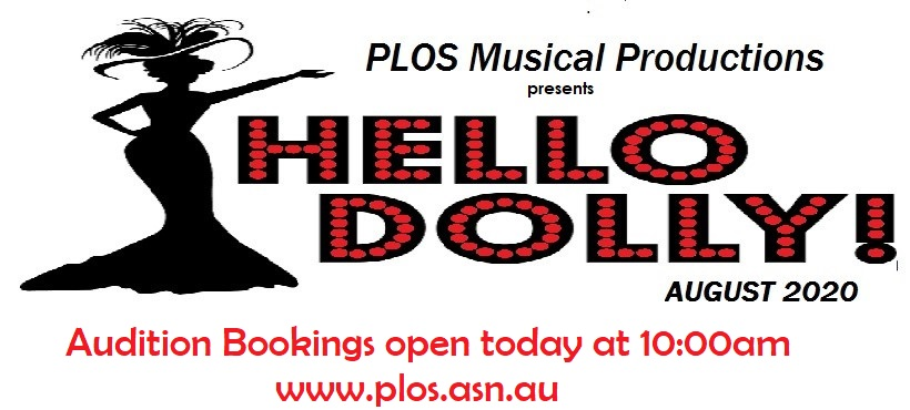 Hello Dolly Audition Bookings